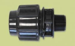 Verschraubung PE 25mm x 3/4 AG