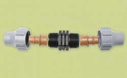 Kupplung für Tropfschlauch oder PE Rohr (16mm)