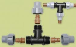 T- Kupplung für Tropfschlauch oder PE Rohr (16mm)