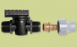 Hahn für Tropfschlauch/PE Rohr (16mm) x 3/4 Gewinde